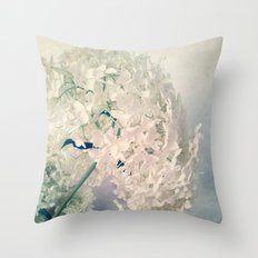 Romantic Hydrangea Throw Pillow