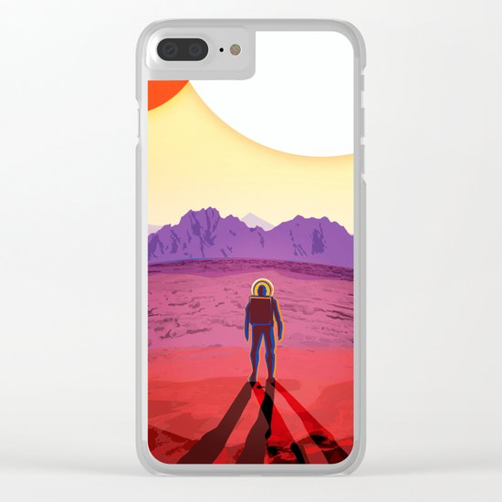 NASA/JPL Poster (Kepler #1) Clear iPhone Case