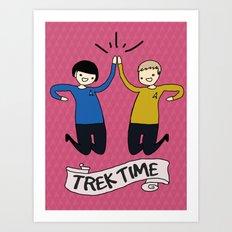 Trek Time Art Print