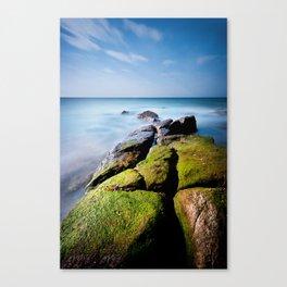 Broken Rock to Beach Canvas Print