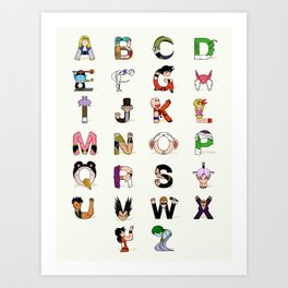 DB Alphabet Art Print