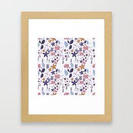 Winter Holiday Pattern Framed Art Print