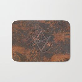 Men of Letters Leather Bath Mat
