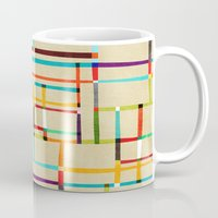 mondrian Mugs featuring The map (after Mondrian) by Picomodi