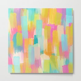 Playfully Yours Abstract Watercolor Metal Print