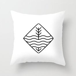 Still Waters Run Deep Throw Pillow