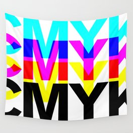 CMYK ON WH Wall Tapestry