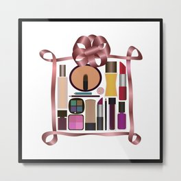 Set of gift make-up Metal Print