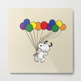 snoopy balloon Metal Print