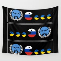 ukraine Wall Tapestries featuring United Nations Russia and Ukraine by mailboxdisco