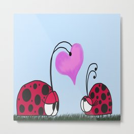 I Give You My Heart Metal Print