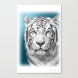Blue Eyed White Tiger Canvas Print