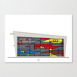 Edificio de comunicaciones UCV Canvas Print