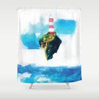 lighthouse Shower Curtains featuring Lighthouse by Vadim Cherniy
