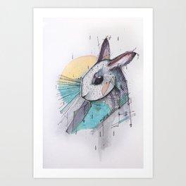 I´ VE JUST SEEN A FACE Art Print