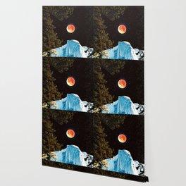 Half Dome Blood Moon Yosemite Wallpaper