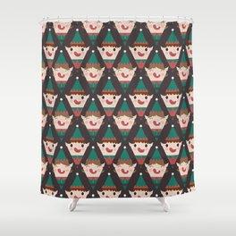 Santa's Little Helpers (Patterns Please) Shower Curtain