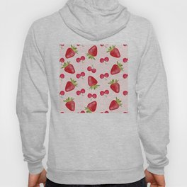Strawberries Cherries Fiesta Pattern Hoody