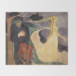 Separation by Edvard Munch Throw Blanket