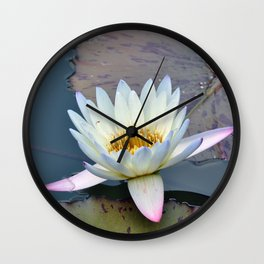 Water Lily in Pond Wall Clock