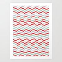 Herringbone Pattern 01 Art Print