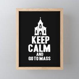 Catholic Church Priest Catholicism Mass Framed Mini Art Print