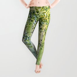 4 season watercolor collection - spring Leggings