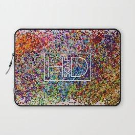 Logo on Sequins Laptop Sleeve
