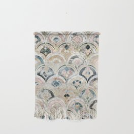 Art Deco Marble Tiles in Soft Pastels Wall Hanging