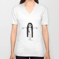 witch V-neck T-shirts featuring Witch! by Kevin Naulls