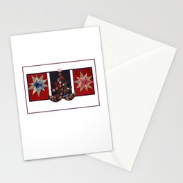 Christmas D6 - Tree & Stars Stationery Cards