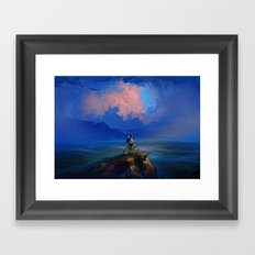 The Happiest man on the Earth Framed Art Print