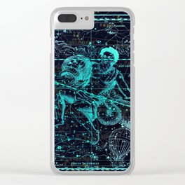 Aquarius, Constellation map, Zodiac, Sign sky, Stars, Universe, astrology, astrological Clear iPhone Case