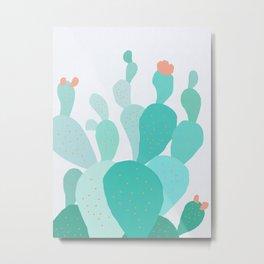Watercolor of cacti IX Metal Print