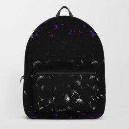 Dandelion Seeds Asexual Pride (black background) Backpack