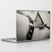 leather Laptop & iPad Skins featuring Leather Lingerie by davehare