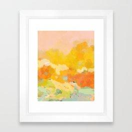 abstract spring sun Framed Art Print