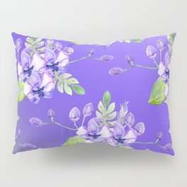 Blue Orchids Pillow Sham