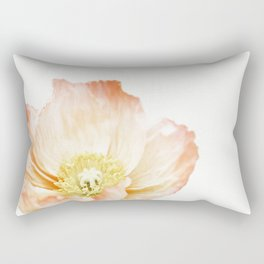 Pink Poppy No. 2 | Floral Art Rectangular Pillow