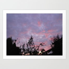 Suburban Sunset Art Print