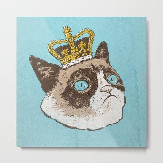 Grumpy King Metal Print