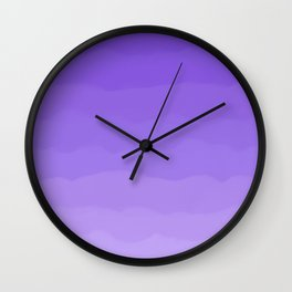 Dreamy Purple Fluff Wall Clock