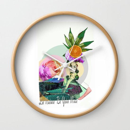 Let Nature Be Your Muse Wall Clock