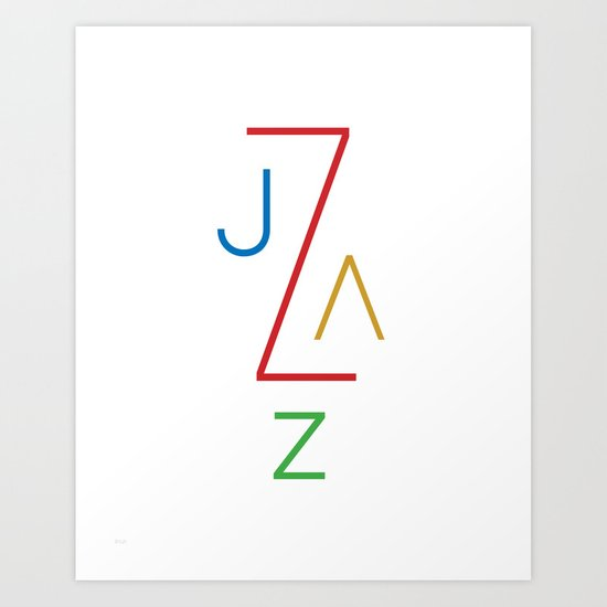 Jazz on White Art Print