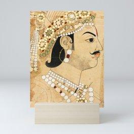 Portrait of Maharaja Pratap Singh  - Vintage Indian Art Print Mini Art Print