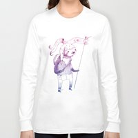 soldier Long Sleeve T-shirts featuring Sloth Soldier by Maryanna Hoggatt