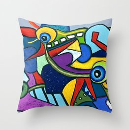 Pterodactyl Smile Throw Pillow