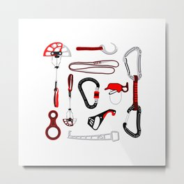 Climbing Equipment Design Metal Print