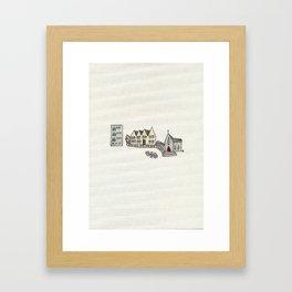 I wasn't born here. Framed Art Print