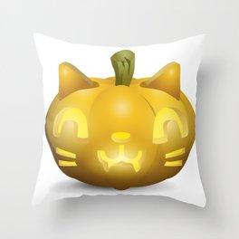 Cat Jack O Lantern Throw Pillow